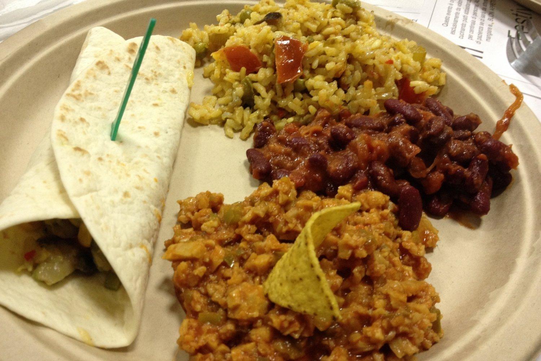 Burrito con verdure