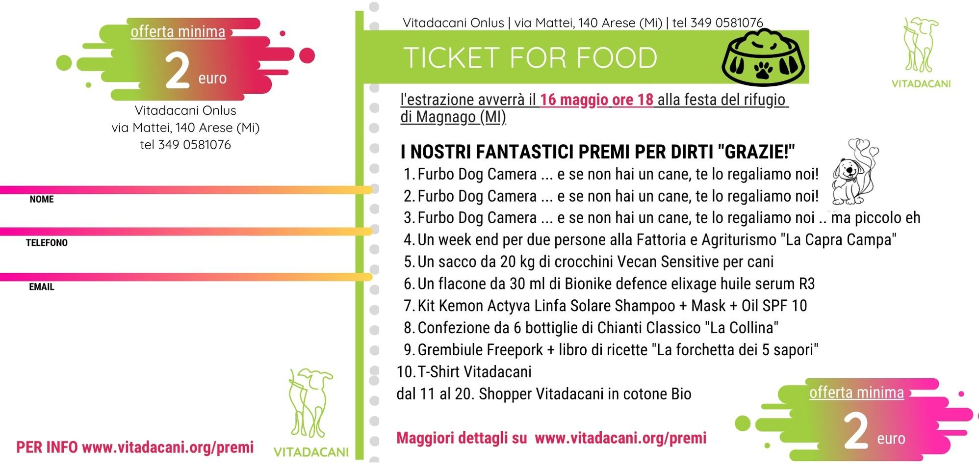 Ticket for Food